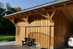 Holzgarage Mit Carport : holzgarage als kompromiss zwischen carport und garage ~ Markanthonyermac.com Haus und Dekorationen