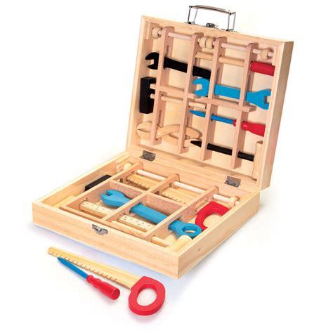 kids wooden tool kits set play box children toddler boy
