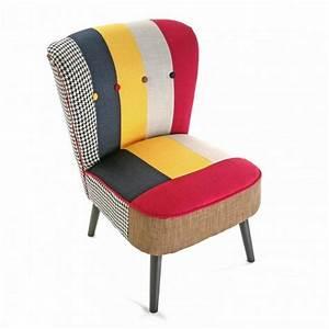 Fauteuil design multicolore solid patchwork versa for Fauteuil multicolore design