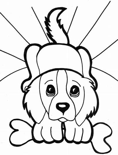 Coloring Dog Face Dogs Puppy Printable Sheets