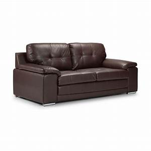 dexter 2 seater leather sofa bed sofabedsworld With pleather sofa bed