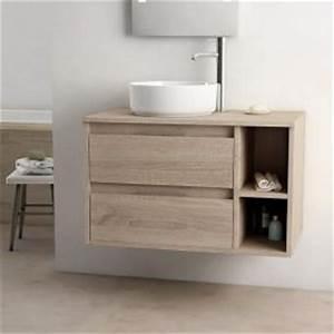 meuble de salle de bains meuble lavabo et vasque With porte de douche coulissante avec meuble salle de bain double vasque 110 cm