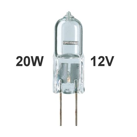 1 00 20w halogen g4 bi pin bulb 12v low voltage