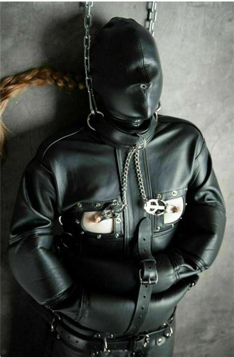 Leather Bondage Bag Sleep Sack BDSM Bodybag & Open Chest ...