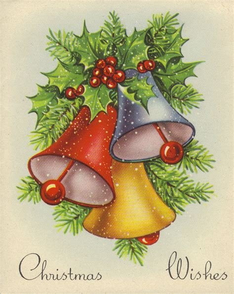 vintage traditional christmas card vintage christmas cards christmas bells christmas belle vintage holidays holidays cards