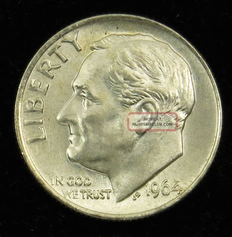 1964 dime value 1964 uncirculated 90 silver roosevelt dime b03