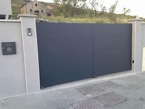 Portail Coulissant Sur Rail : portail de garage coulissant sur rail ~ Edinachiropracticcenter.com Idées de Décoration