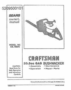Craftsman 636 79667 Trimmer User Manual