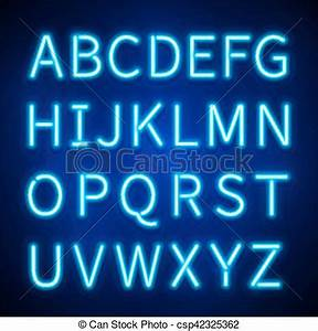 Glowing neon lights vector signs typeset letters font