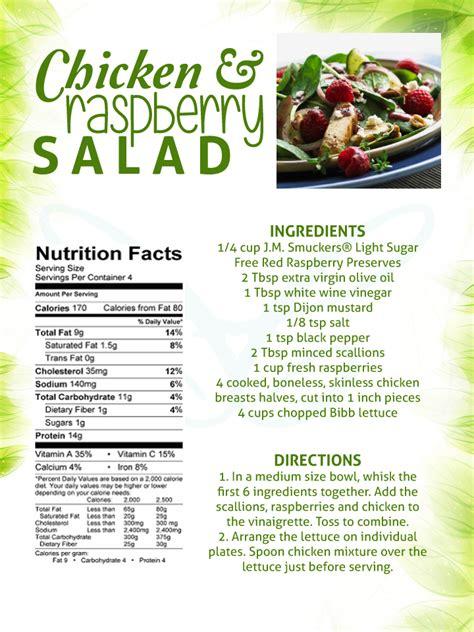 chicken raspberry salad recipe contemporary health center