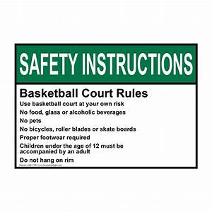 Ansi Basketball Court Rules Use Basketball Court Sign Asie