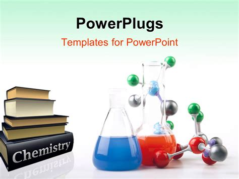 powerpoint template pile  chemistry textbooks