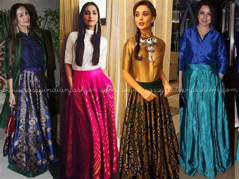 bollywood actress wearing long skirts this long skirt is celebs favorite now i like it
