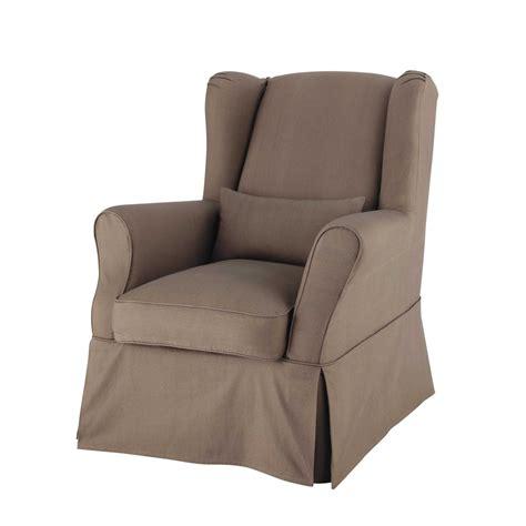 chambre à coucher maison du monde housse de fauteuil en coton taupe cottage maisons du monde