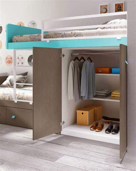 lit superposé canapé lit superposé avec bureau pour la chambre enfant
