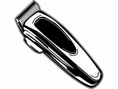 Barber Clippers Clipart Tools Razor Barbershop Scissors