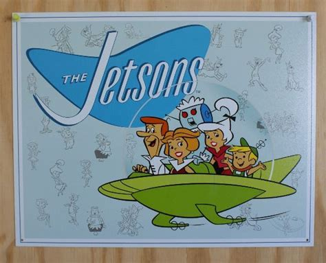 The Jetsons ABC Tin Sign 60's Cartoons Childhood Birthday