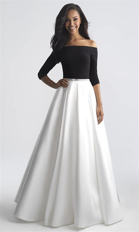 Long Off Shoulder Prom Dress With Sleeves Promgirl