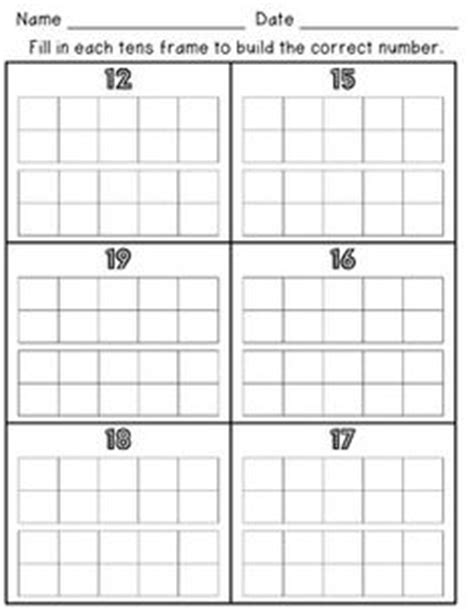 ten frame images kindergarten math math numbers