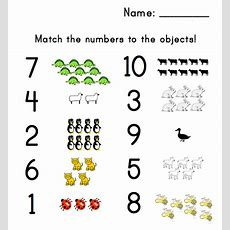 Preschool Number Matching Worksheet Agnitus