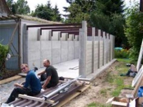 Garagen Aufbau