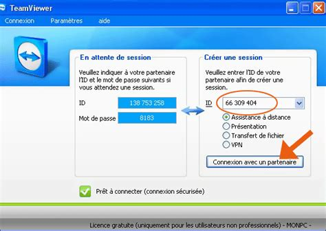 teamviewer se connecter 224 distance 224 un ordinateur