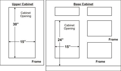 standard cabinet door sizes standard kitchen cabinet doors kitchen and decor