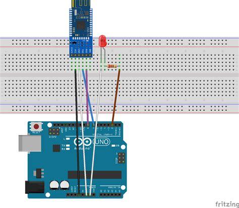 an arduino via the hm 10 ble module from a mobile