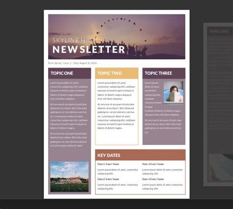 ideas  newsletter template   pinterest