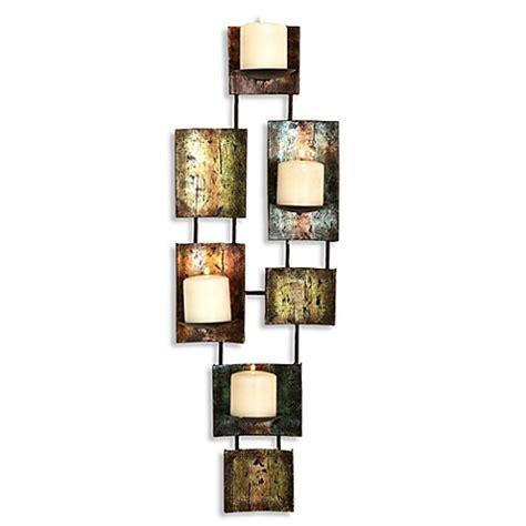 pillar wall sconce metal multi color pillar candle rectangular wall