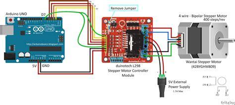 Arduino Bipolar Stepper Motor Wiring Diagram