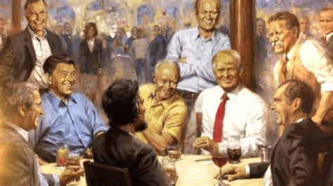 trump painting presidents republican president tacky minutes trumps