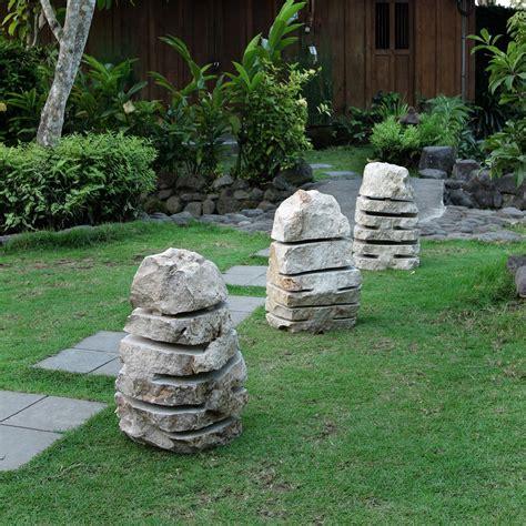 naturstein wandverkleidung außen marmor garten leuchte m natur ca 30x30x50 cm bei