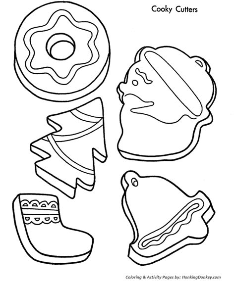 Christmas Cookies Coloring Pages   Christmas Cookie Shapes