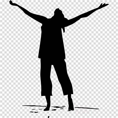 Worship God Clipart Worshipping Silhouette Clip Transparent