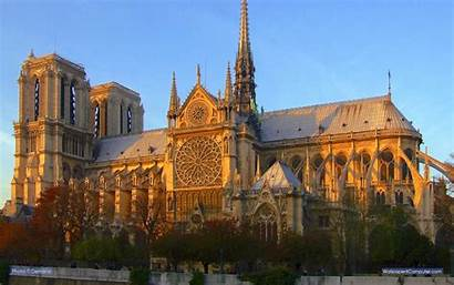 Notre Dame Cathedral Computer Pixels 1200 Sunset
