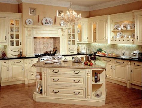 traditional kitchen style  fashioned rustic french