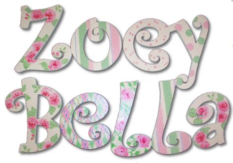 shabby chic lettering shabby chic hand painted wall letters