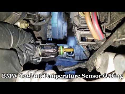 bmw coolant leak temp sensor  ring fix youtube