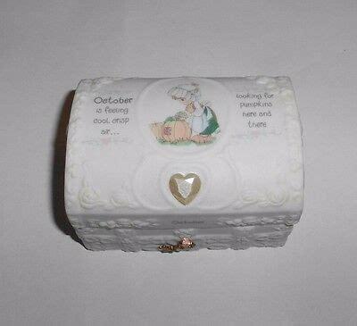 Precious Moments March Birthstone Hope Chest Ceramic Heart
