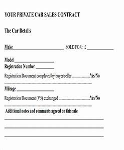 sample automobile sales contracts 8 examples in word pdf With private party car sale contract template