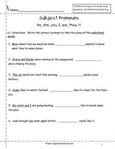 Pronouns Nouns Worksheets from The Teacher's Guide