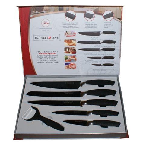 equipement cuisine set de couteaux 6 pièces céramique royalty line switzerland original