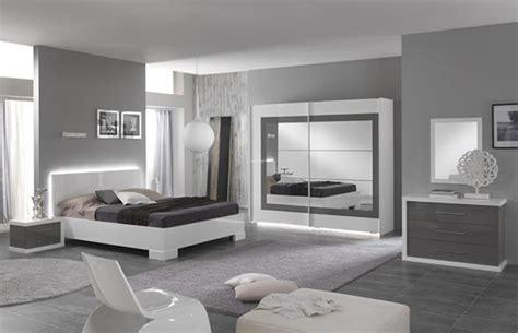 chambre a coucher blanc laqué miroir ancona bicolore laque blanc gris chambre à coucher