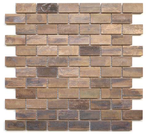 tile sheets for kitchen backsplash medium brick antique copper mosaic tile sheet