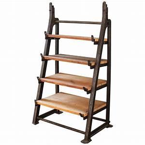 Vintage, Industrial, Custom, Factory, Cast, Iron, Wood, Shelving, Shelf, Storage, Unit, For, Sale, At, 1stdibs