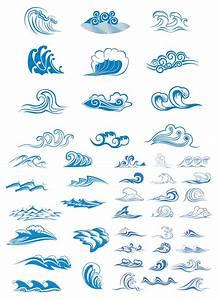 Sea waves symbols vector | Vector Graphics Blog