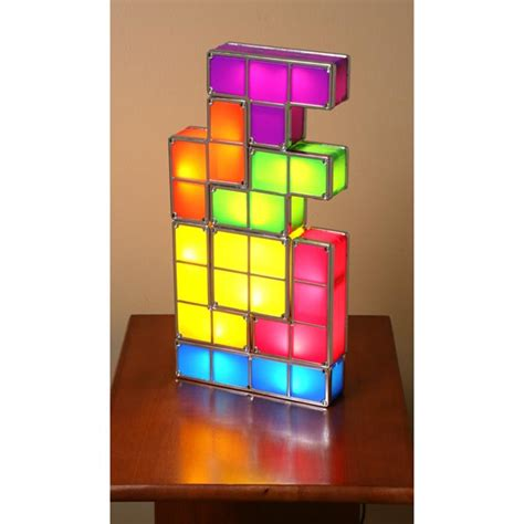 tetris stackable led desk l made of plastic and metal