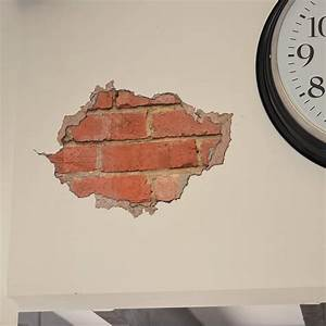 brick and plaster wall sticker by oakdene designs
