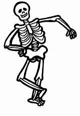 Coloring Halloween Skeleton sketch template
